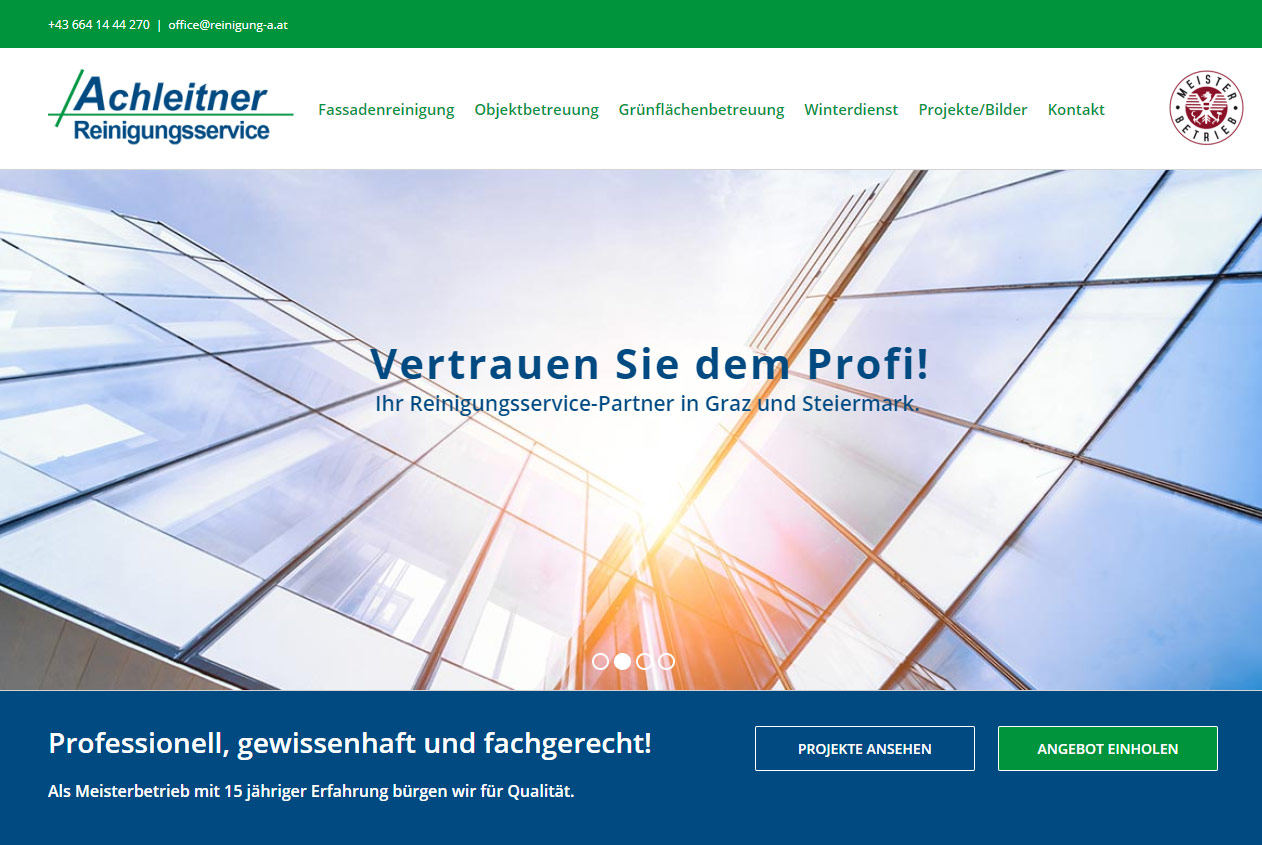 Achleitner website home page