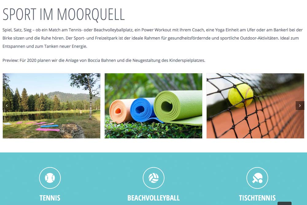 Online Marketing Klagenfurt - Webdesign Klagenfurt Portfolio Moorquell