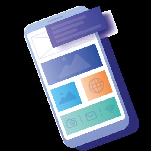 Mobile phone showing Responsive Webdesign Klagenfurt