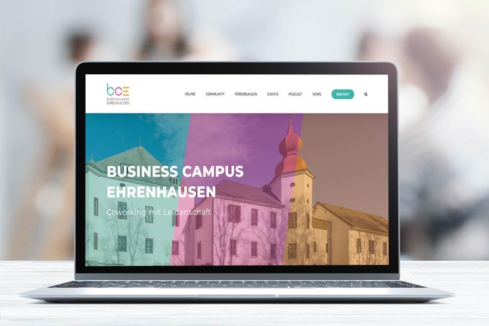Markegy Webdesign Klagenfurt Portfolio Business Campus Ehrenhausen Starseitenslider mit Text