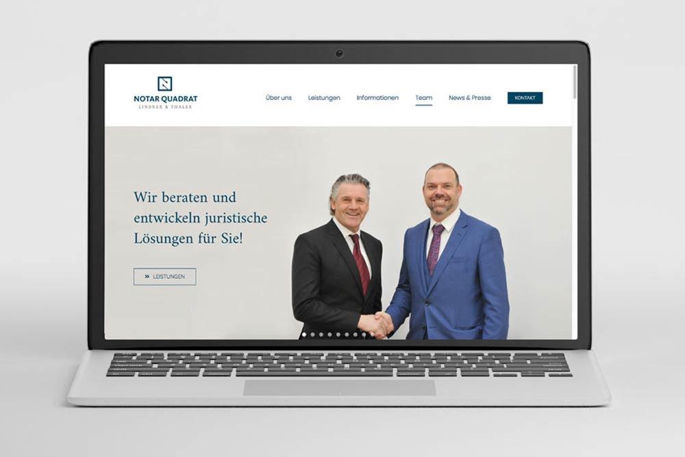 Markegy Portfolio Notarquadrat - neue Webseite für Stefan Lindner und Martin Thaler in Klagenfurt