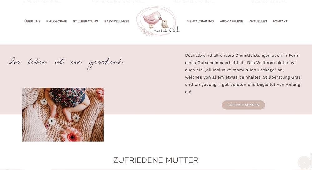 Webdesign Klagenfurt Portfolio Mami und ich